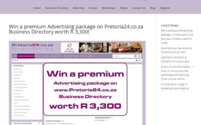 Win a premium Advertising package on Pretoria24.co.za Business Directory worth R 3,300!